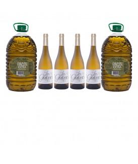 Pack 2 Garrafas de Aceite 5L y 4 botellas Los...