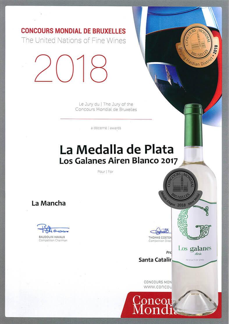 Los Galanes Airén, el vino más popular de Cooperativa Santa Catalina, recibe un nuevo premio internacional entre más de 9.000 vinos.